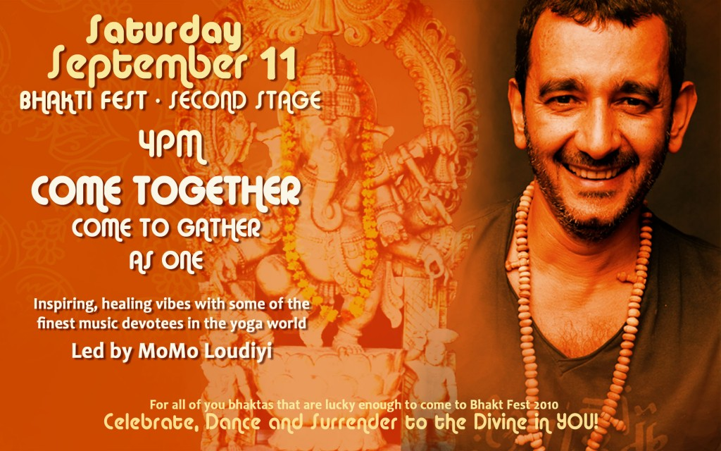 Flyer - MoMo Loudiyi at Bhakti Fest